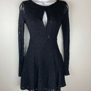 Free People Teen Witch Lace Dress XS Black